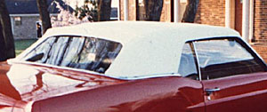 CONVERTIBLE TOP W/ CURTAIN WHITE 69/70 MUSTANG