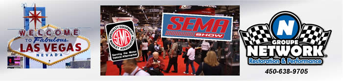 groupe network sema show muscle car parts pieces canada quebec